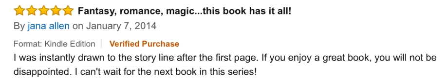 Jana Allen Amazon Book Review of The Star Prophecy