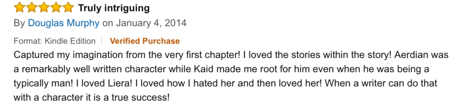 Douglas Murphy Amazon Book Review of The Star Prophecy